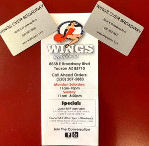 Thank You to 2019 Back the Blue Event Sponsor Wings Over Broadway